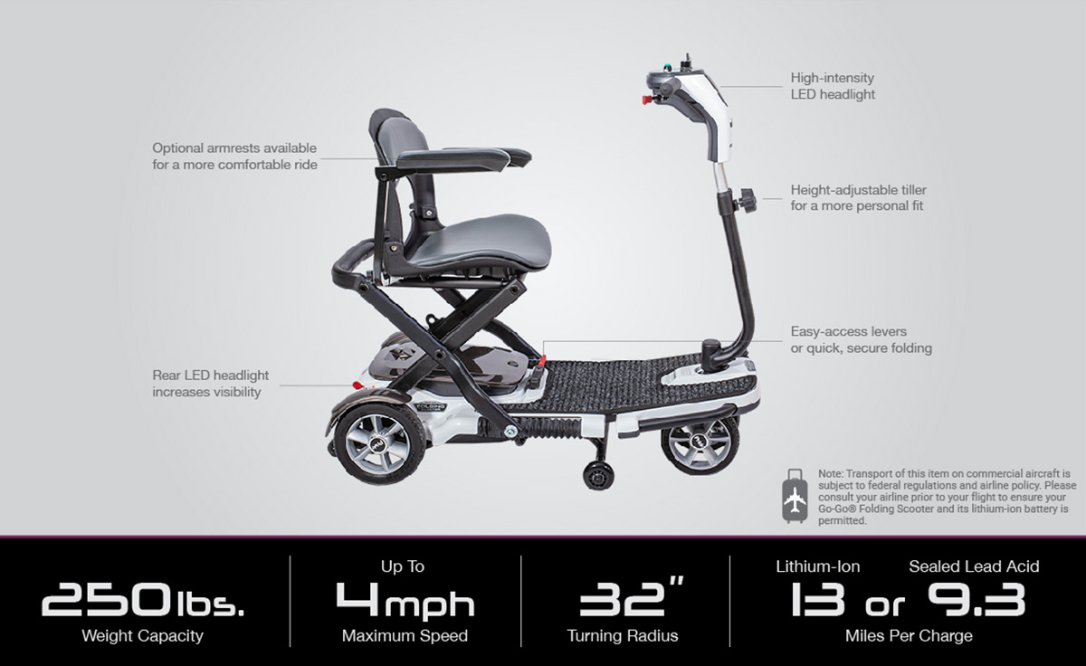 image of go-go folding scooter 4-wheel specifications image
