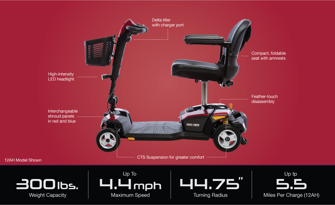 go-go lx with cts suspension 4-wheel specifications image
