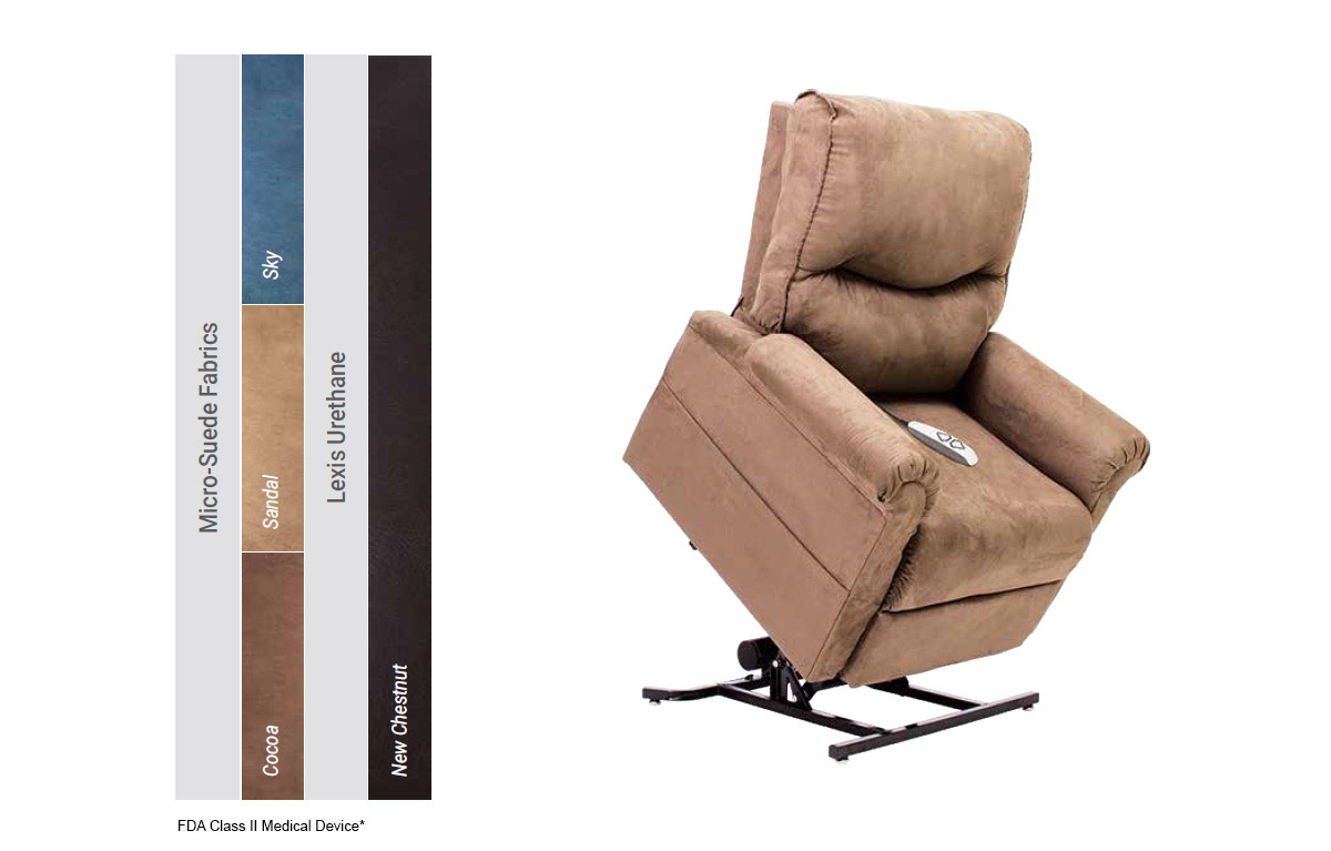 image of lc 105 pride power lift recliner colors