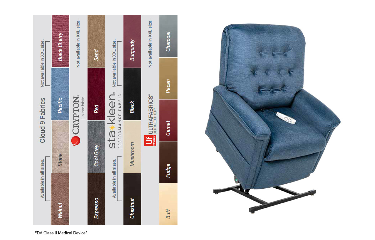 image of lc 358 power lift recliner colors