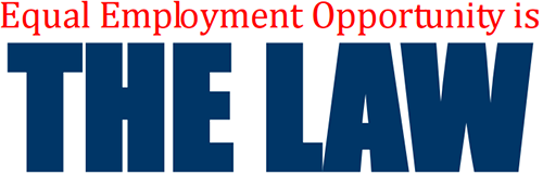 image of equal employment opportunity is the law logo