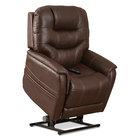 image of walnut vivalift elegance plr 975 power lift recliner