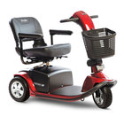 image of candy apple red victory 10 3 wheel scooter