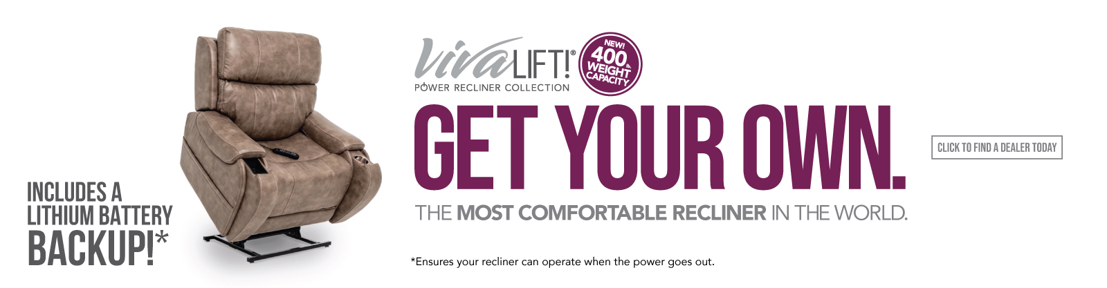 Get Your Own VivaLift! Power Recliner