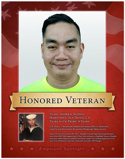 image of andrew alonzo honored veteran