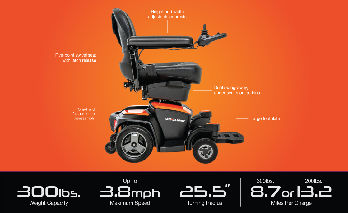 go chair specifications image