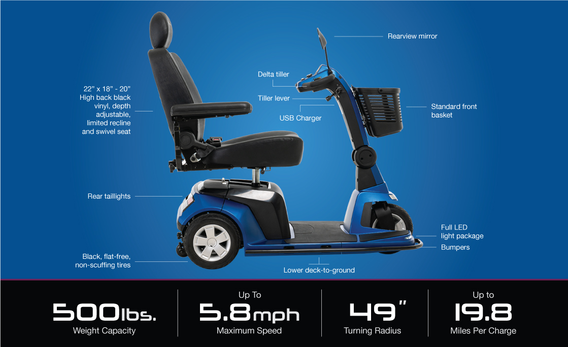 maxima 3 wheel scooter specifications image