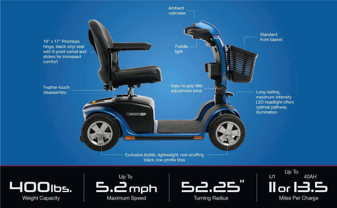victory 10.2 4 wheel scooter specifications image