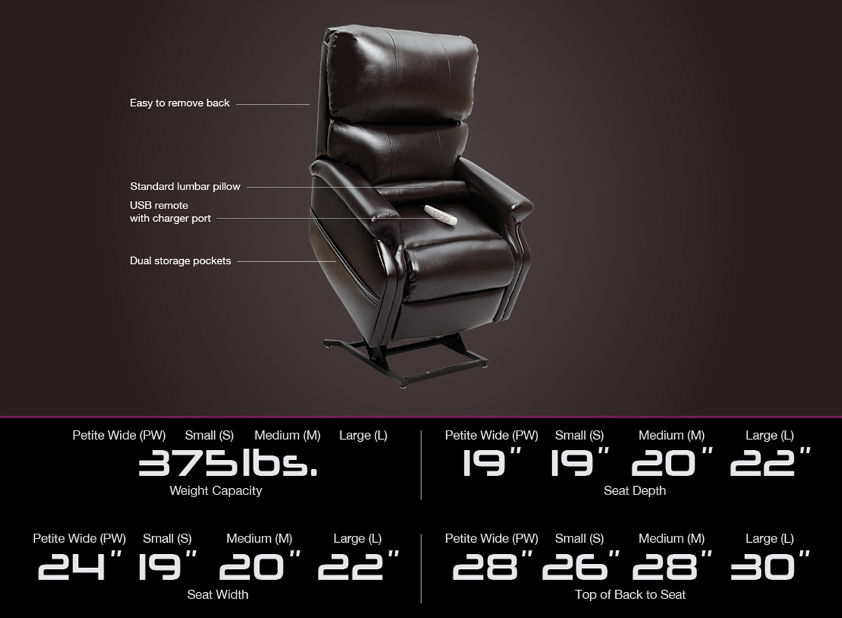 infinity lc 525 power lift recliner specifications image