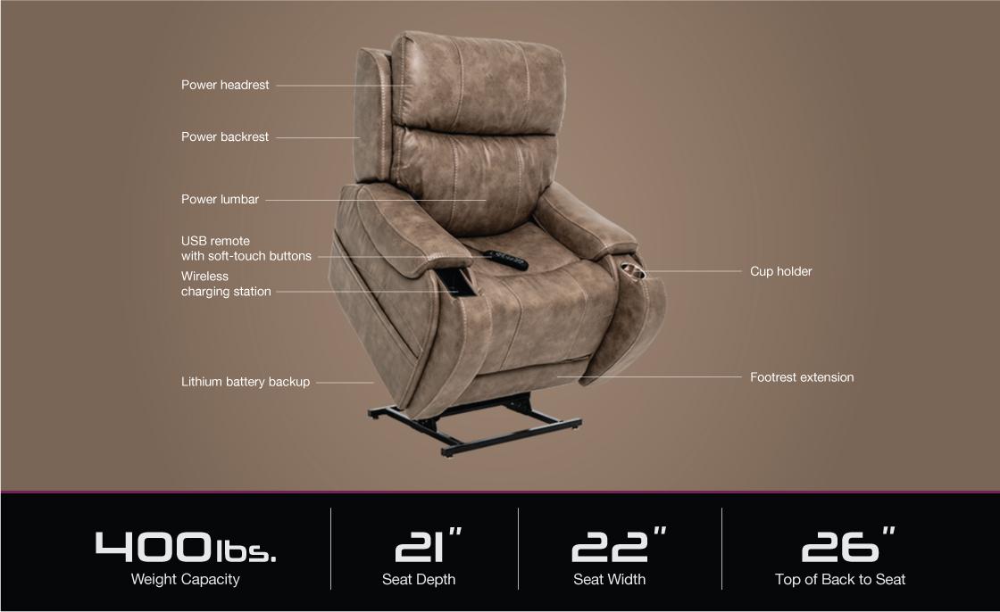 vivalift atlas plus power lift recliner specifications image