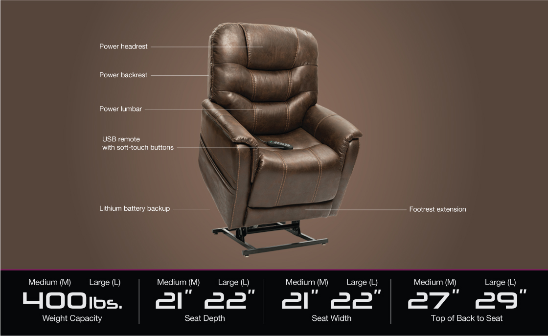 vivalift elegance plr 975 power lift recliner specifications image