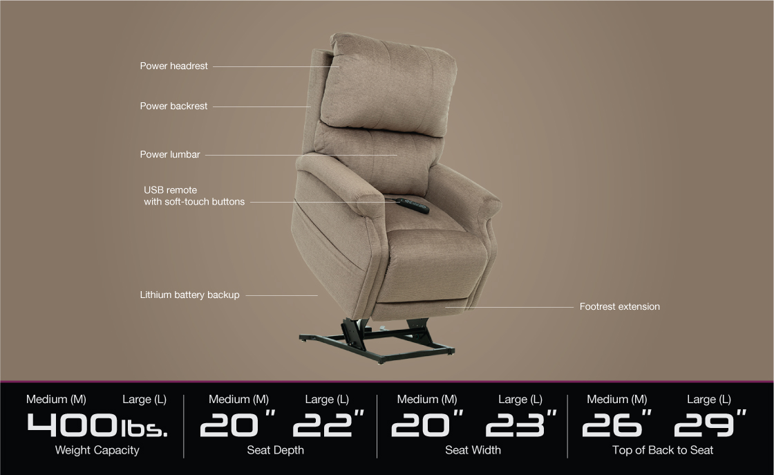 vivalift escape plr 990 power lift recliner specifications image