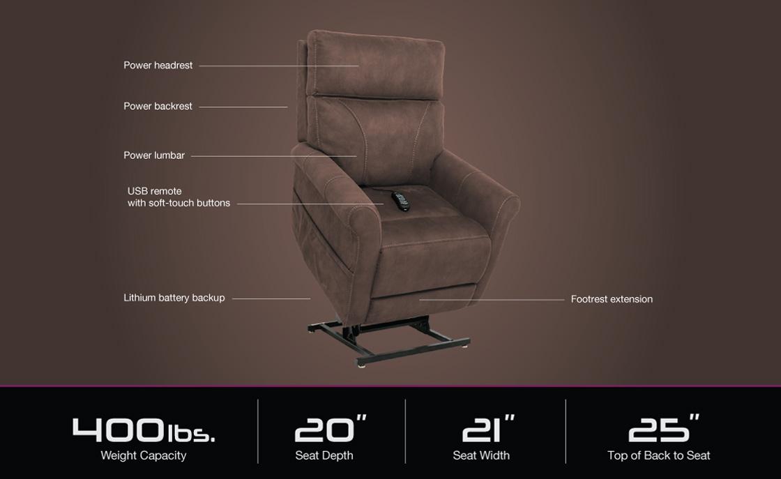 vivalift urbana plr 965 power lift recliner specifications image